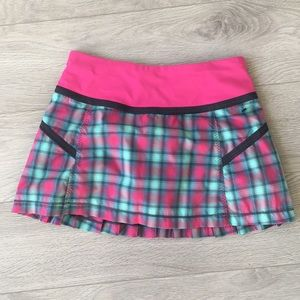 Lululemon  pacesetter plaid skirt